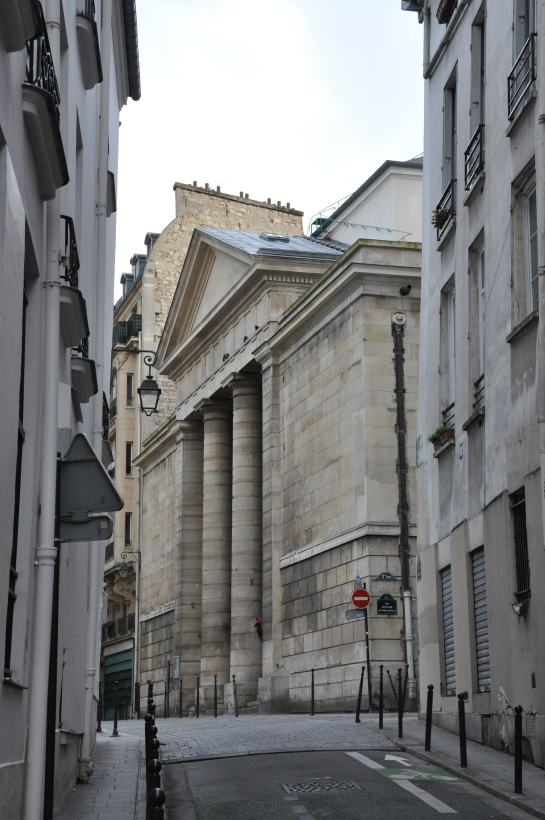 A church in Paris with a Greek temple front.
