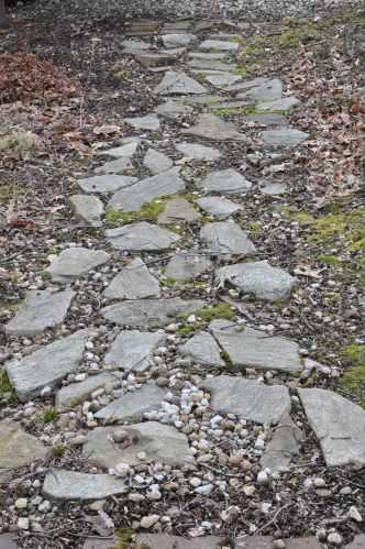 A stone path.
