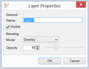 The Layer Properties dialogue box from Paint.NET.