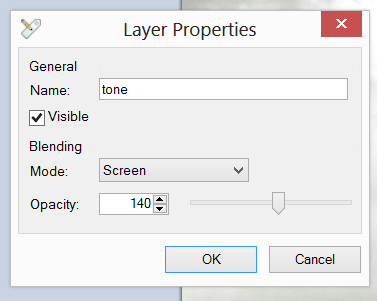 Screen shot of the Layer Properties dialog bos.
