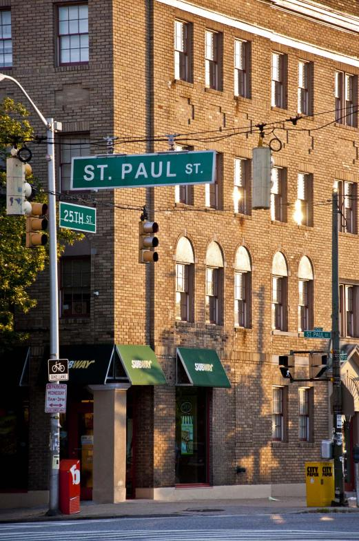 The corner of St. Paul and 25th St.