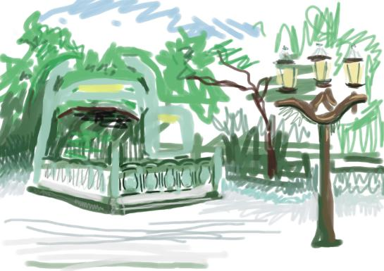 A digital sketch of the cité