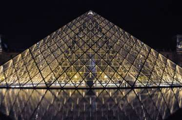 This is I. M. Pei's large central pyramid.