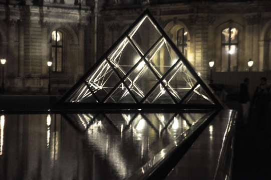 This is one of the small pyramids with a reflecting pool.