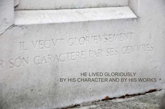 He lived gloriously by his character and by his works.