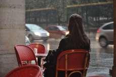 woman at cafe