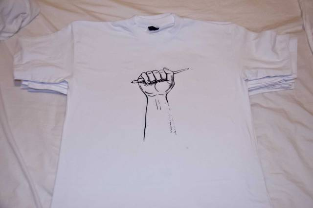 pen-and-fist-t-shirt