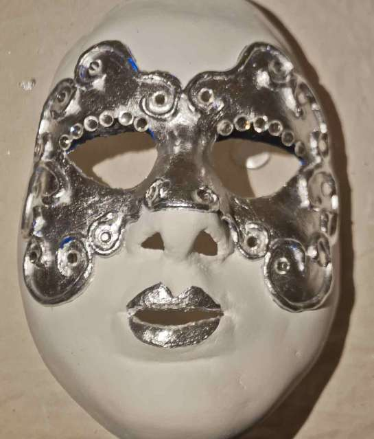 Halloween mask with rhinestones
