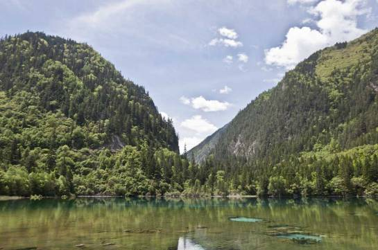 The national park and nature reserve, Jiuzhaigou.