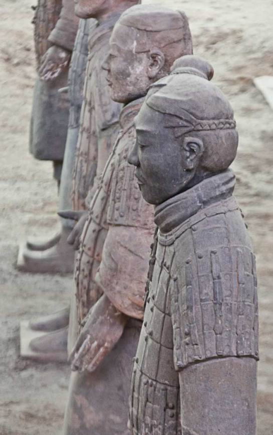 I probably don't need to tell anyone what this is, but, just in case, it's one of the Terracotta Warriors that were discovered outside the city of Xian.